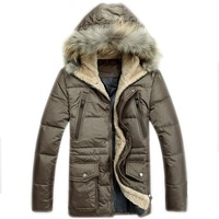 Men Long Winter Jackets With Hood Windstopper Warm Parka Winter Overcoat Retail 2013/2014 Outerwear Coat