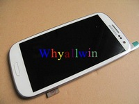 white blue orignal For Samsung Galaxy SIII I747/T999 LCD and Digitizer Touch Screen assembly FREE SHIPPING