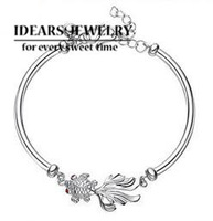 IDEARS/new design 925 pure silver bracelet fish female STERLING pure silver bracelet female IDSB014