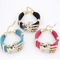 New Fashion free shipping  Women Punk Exaggerated Hand Pendant Handmade Fashion Party Bracelet L003