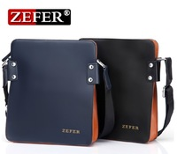 free shipping/fashion 2013 new briefcase /genuine leather/ shoulder bags/ man messager bag Zefer hot-selling men's backpack bags