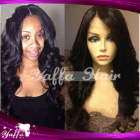 2014 New Hair Products 10-28 inchs Wavy Glueless Full Lace Wigs Silk Top Full Lace Wig Brazilian/Malaysian  hair