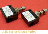 ASC-06,G1/8 Accurate Flow Control air Check Valve,ASC series One-way throttle valve