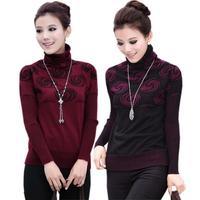 Hot Selling 2015 New Korean Fashion Warm Turtleneck Autumn Winter Women's Wool Sweater Elastic Cardigan Long Sleeve Outerwear