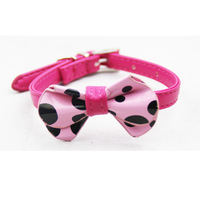 Free Shipping! 12pcs/lot Bowtie Cat Collar with Safety Elastic Belt & Bell 4Colors mixed