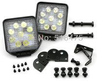 2*SPOT/FLOOD BEAM 27W LED WORK OFFROADS LAMP LIGHT TRUCK 12V24V 4WD 4*4 BOAT CAMPING