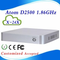 no noise Intel Atom2500 X-24X micro pc minipc mini pc x86 support full-screen movies and wifi