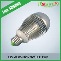 E27 9*1W 9 LED Warm White Light  1070LM  High Power Bulb Lamp Energy Saving AC85-265V Free Shipping