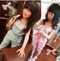 2013 girls suit condole belt + 5 minutes of pants suit that snow spins condole wholesale free shipping