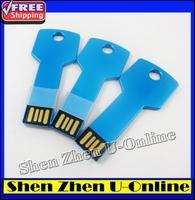 New 2014 hot  Fashion Creative Waterproof Key shape 4G/8G/16G/32G/64G USB Flash drive 2.0 Memory Drive ,Free shipping