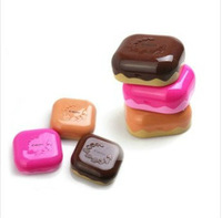 Free Shipping High Quality Wholesale 1pc/lot  Sweet Chocolate Fine Contact Lenses Box & Case/Contact lens Case Promotional Gift