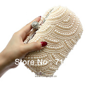 Hot Sell 2014 New Arrivals Ladies' Day Clutches Knuckle Rings Evening Bag Artificial Pearl Fingers Rings Bags TB105