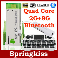 Double Antenna CX-919 II WIFI TV Stick Android 4.1 TV BOX  RK3188 Quad Core + Keyboard UKB500 + USB HUB RJ45