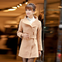 2013 womens windbreaker women fashion trench casual lace coats Ladies long style tops outerwear with single button