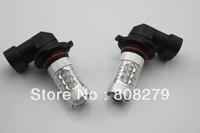 80W HB3 9005 High Power 16 LED Foglight fog Light DRL  Bulb Amber/Yellow White 12V 24V