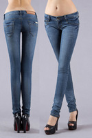New 2014 brand jeans women 95% cotton denim trousers | Fashion famous size 25-33 demin pants for woman
