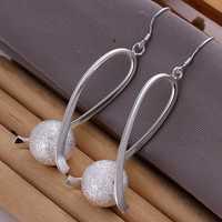 Lose Money!!Wholesale 925 Silver Earring,925 Silver Fashion Jewelry Fashion Ball Earrings SMTE133