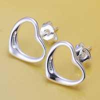 Lose Money!!Wholesale 925 Silver Earring,925 Silver Fashion Jewelry Fashion Heart Earrings SMTE099