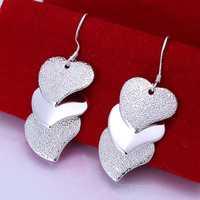 Lose Money!!Wholesale 925 Silver Earring,925 Silver Fashion Jewelry Gloss Heart Earrings SMTE191