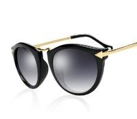 Fashion fancy male fashion vintage sunglasses metal arrow women's anti-uv sunglasses glasses sunglasses