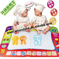 20pcs/lot 40cm*30cm huge  color Water Drawing Toys Mat Aquadoodle Mat&1 Magic Pen/Water Drawing board/baby play mat
