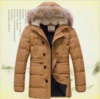 2013 autumn and winter men's  thickening down jacket ,plus size big size winter jacket,waterproof outdoors military down jacket