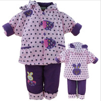 Free shipping clothing set New winter warm baby suit  wear suit 100% cotton carters baby girl newborn