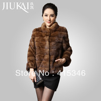 Free Shipping 2013 mink fur women's short design fur overcoat outerwear