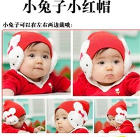 CL0201 FreeShipping 1pc Baby Hat Korean Toddler Kids Boys Girl Winter Hat Cartoon Rabbit Ear cap warm hat for Protection Ear Hat