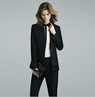 Free Shipping Black  New Leisure Suit Collar Small Suit Women suit  LS0004
