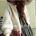 Trend Knitting  High Quality 2013 autumn New women's Sweaters loose Printing hollow out cardigan 7 Colors