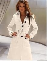 Jaquetas Femininas Autumn Casacos De Inverno Belted Long Trench Coat For Women Casacos De Inverno Femininos 2015 Blusa De Frio