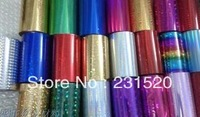 Hot foil 6 rolls. Color: silver, black, gold, red, blue, green , purple optional. Size: 8cmx120M