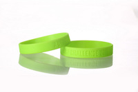 Debossed Custom Silicone Wristbands, 1000pcs/Lot,  debossed Rubber Bracelets Style, Free Artowork, NO Mold Cost or Set Up Fee