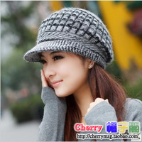 HG-01 2014 Casual Beanie Thickening Thermal Homies knitted hat Gorro women's rabbit fur cap Hats for women Winter hat Beanies