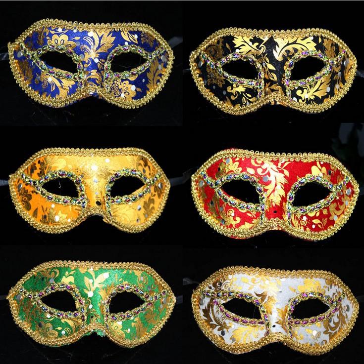 Free Shipping Wholesale Halloween Elegant cheap masquerade masks Cat venetian half face mask big lots halloween decorations(China (Mainland))