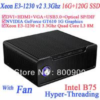 custom built gaming computers with  Xeon E3-1230 v2 Quad Core 8 threads 16G RAM 120G SSD intel B75 NVIDIA GeForce GT610 1G