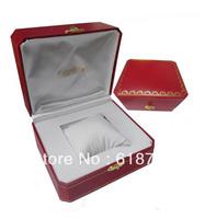 2014 HOT!!! Luxury  Watch Box &Jewellery Gift Box  Leather box Red box  Free shipping