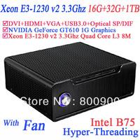 servers with 1U power Xeon E3-1230 v2 Quad Core 8 threads windows 7 16G RAM 32G SSD 1TB HDD intel B75 NVIDIA GeForce GT610 1G
