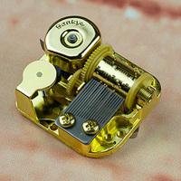 Wind up music box movement gold/silver/black/red copper Diy wedding sankyo music box movement freeshipping