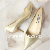 Free shipping 2014 single shoes fashion pointed toe formal japanned leather high-heeled shoes female shoes