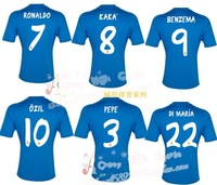 Thai version 13-14 real Madrid shirt blue short sleeve shirt soccer uniform 7 ronaldo 14 xabi alonso