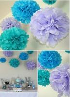"Free Shipping 15pcs 15cm 6"" Tissue paper Flower Pom Poms,Baby shower/wedding/ Birthday Party Nursery Baby Girl Room Decoration"