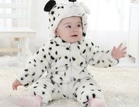 2013 new arrival baby romper lovely Animal design snow leopard romper Fleece autumn warm newborn jumpsuit  5-32M