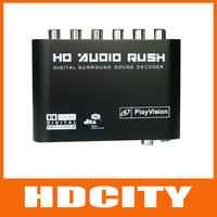 AC3/DTS Data Converter 5.1 Channel Digital Audio Sound Decoder Black