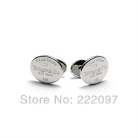 Wholesale 925 sterling silver 2013 fashion men designer brand egg card cufflinks jewelry hot sale promotion free shipping