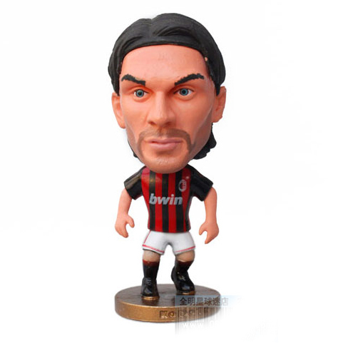 3 Maldini dolls AC milan toy doll figure Football Star Doll figure soccer star doll(China (Mainland))
