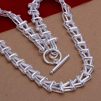 Free Shipping Wholesale Sterling 925 Silver Necklace,925 Siver Fashion Jewelry,Fashion To Necklace SMTN266
