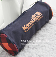 Free shipping M&G fashionable denim personalized cylinder pencil bags boyslarge capacity pencil cases for school