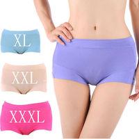 Free Shipping! 10pcs/lot Woman Underpants Panties Bamboo Ladies Briefs Underwear XL,XXL,XXXL Hot Sale